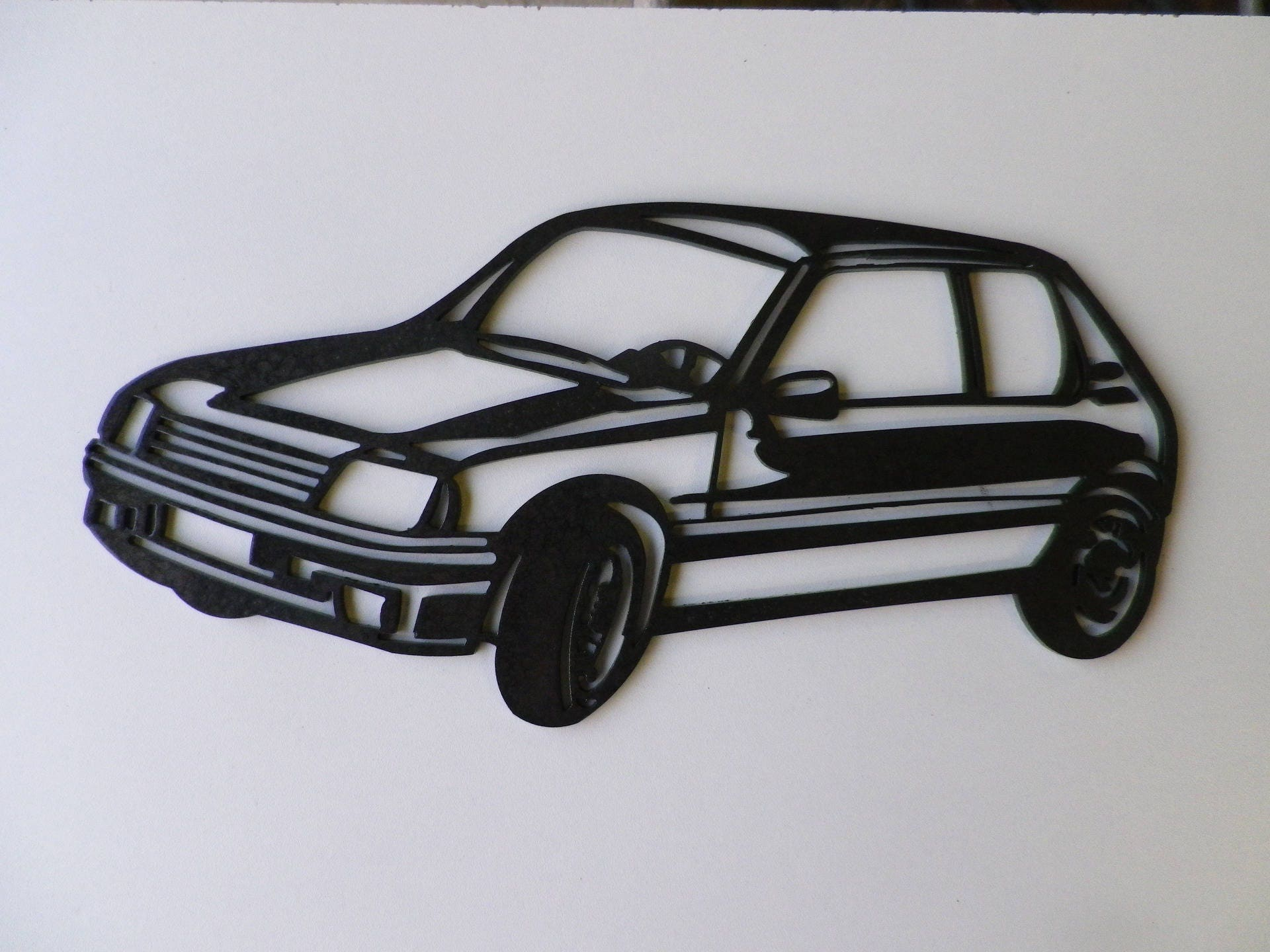 plaque enseigne peugeot 205 gti en fer peint. Black Bedroom Furniture Sets. Home Design Ideas