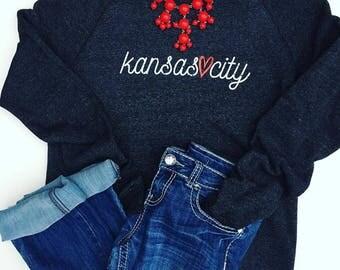 KC Red Heart Sweatshirt