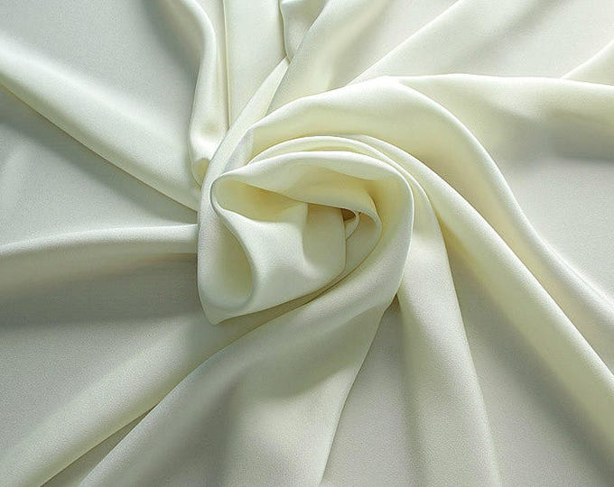 305004-Crepe marocaine Natural Silk 100%, width 130/140 cm, made in Italy, dry cleaning, weight 215 gr