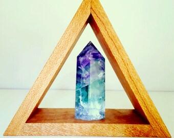 Triangle Crystal Display Shelf // Mini XS // Wood Shelf // Triangle Shelf // Display Shelf // Home Decor ~ Gift ~ Boho //