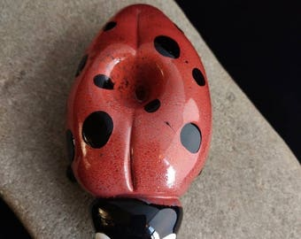 Colorful Glass Ladybug Pipe