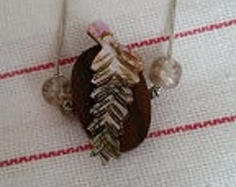 Mother of Pearl Feather Necklace