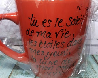 """Cup handpainted """"You're the sunshine of my life"""""""