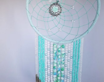 Mint&White Rose Dreamcatcher