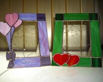 Lots of Love Picture Frame / Stained Glass Frame / Valentine Frame / Portrait Frame / Frame 10cm x 15cm / Heart Frame / Picture Frame
