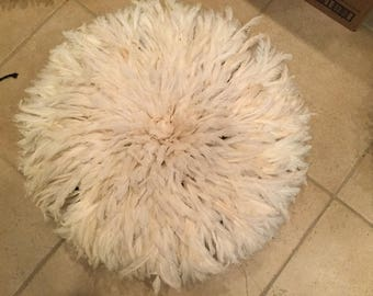 Large cream colored juju hat from Cameroon    #1003