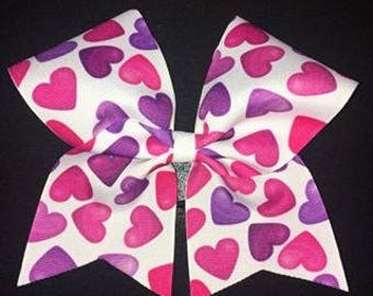 Hearts Texas Sized Hair Bow