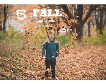 5 Fall Lightroom Presets