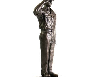Navy Chief Petty Officer Statue - 12 Inch Height, Bronze Cold Cast Resin, KA306