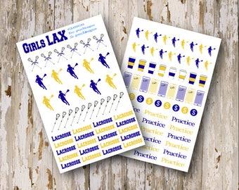 Girls LAX (Lacrosse) Sticker Sheet