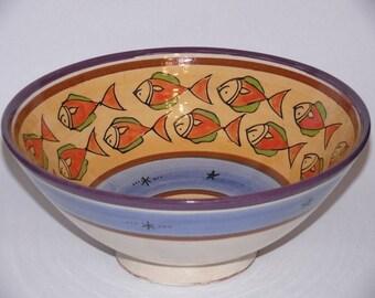 Moroccan Oriental ceramic dish bowl fruit salad cereal Ø 30 CM Model Saya