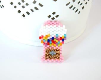 Brooch beads Miyuki gum machine