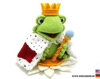 King Frog crochet pattern