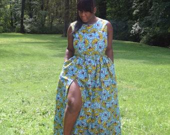 African Print Maxi dress.