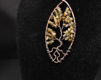Green Jasper Tree of Life pendant
