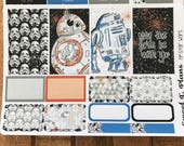 Space Galaxy weekly kit Space ship  Weekly kit  Mini Weekly kit Erin Condren Happy Planner planner stickers