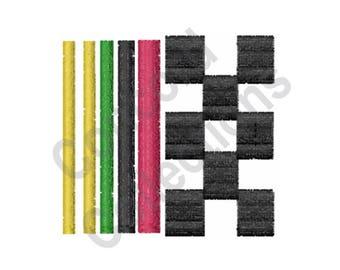 Checkered Flag Icon - Machine Embroidery Design