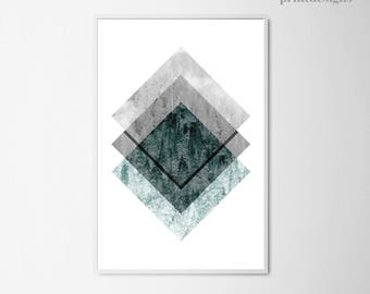 Geometric Art Print, Modern Print, Geometric Print, Scandinavian Poster, Nordic Print, Scandinavian Print,  Printable Wall Art
