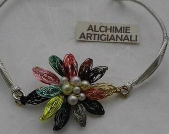 beaded flower bracelet.