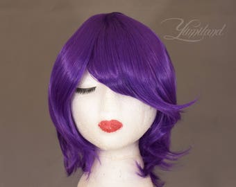 Short Purple Wig | Short Wig | Purple Wig | Festival Wig | Party Wig | Cosplay Wig - short wig with high quality synthetic hair