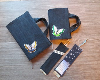 Special order Bookmark and book covers– made from recycled fabric