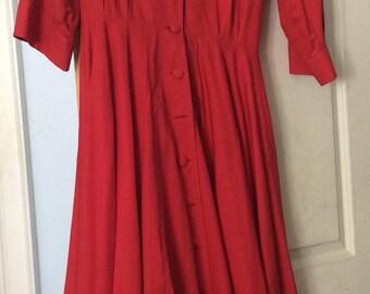"""VINTAGE Red Emmanuelle Khanh """" Dance"""" Dress"""