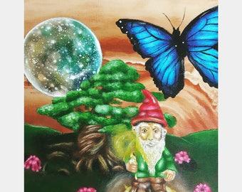 Juniper Jupiter- acrylic surreal painting