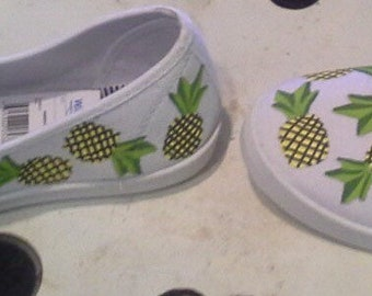 Hand Painted pineapple shoes