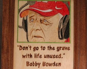 Bobby Bowden - portrait and quote