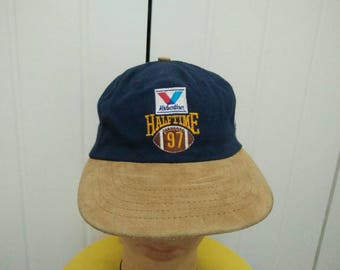 Rare Vintage VALVOLINE Half Time 97' abc Sports College Football Spell Out Cap Hat Free size fit all