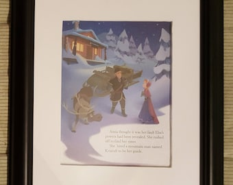 Anna Meets Kristoff - Frozen - Disney - Aproximaitely 6 x 8 inches