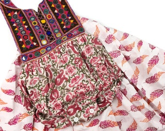 3T Banjara skirted romper, Banjara romper with skirt, Boho romper, Hippie baby, Shower gift, Bohemian Baby clothing, Organic Toddler