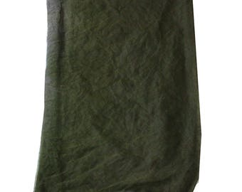 Green Fabric Dupatta Indian VIntage Used Fabric Curtain Drape Sewing Long Stole Home Decor Antique Scrap Scarf Women Evening Wear Neck Hijab