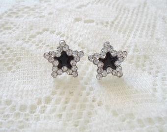 Silver Crystal Star earring, Crystal stud earring, Wedding earring