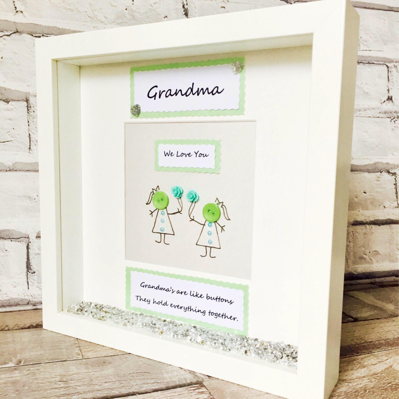 Grandparents Frame, Personalised Grandma Gift Frame, Grandma Gift ...