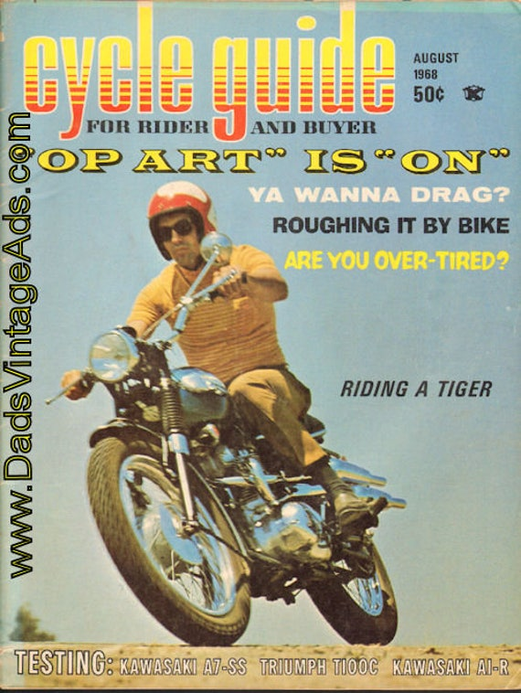 1968 August Cycle Guide Motorcycle Magazine Back-Issue #6808cg