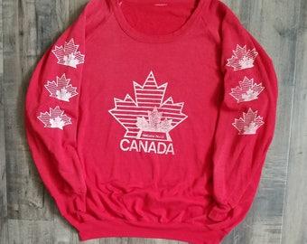 Vintage Niagara Falls Sweatshirt, Canada Maple Leaf Sweater