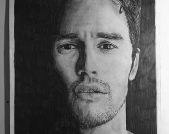 A3 James Franco Portrait Drawing