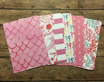 POCKET Sized Mermaid and Ocean Dashboard and Dividers | Filofax, Kikki K, Day Planner, Gillio, Etc | Planner Inserts