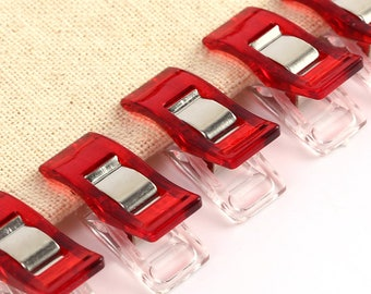 10 plastic for sewing attachment clips