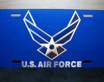 US AIR FORCE Metal Novelty License Plate For Cars And Trucks  U.S. Force