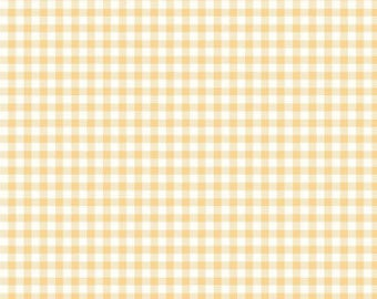 Bake Sale 2 YELLOW Gingham Yardage by Lori Holt of Bee in My Bonnet for Riley Blake Designs #C6988 100% Cotton