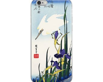Japanese bird iPhone case, beautiful Asian woodblock print, great for bird lovers, nature lovers, and Hiroshige lovers!