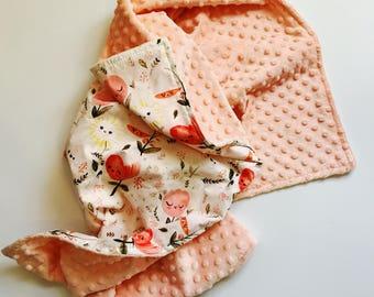 Happy Flowers Baby Blanket, Baby Blanket Girl, Floral Lovey, Floral Baby Blanket, Floral Lovey, Modern Baby Blanket, Floral Crib Bedding