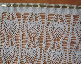 Pineapple-shaped crochet cotton curtain