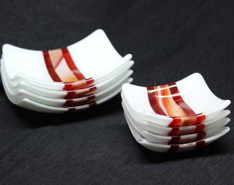 8 piece Fused Glass Dishes
