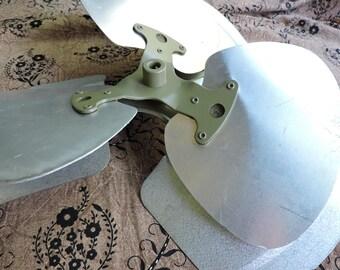 Vintage aluminum and steel fan blades