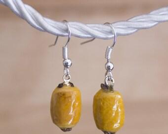 Chocolate bread earrings