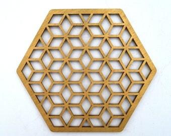 Coaster Geometric Set - 6 pcs
