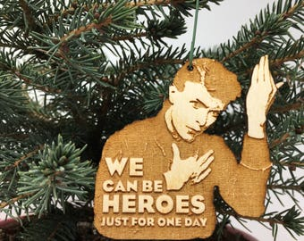 We Can Be Heroes Christmas Ornament | Heroes Hand Made Wood Holiday Gift